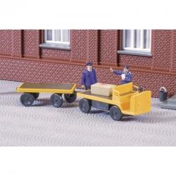 TT elektrický nákladní vozík s prívěsem