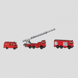 Z set hasičských vozů
