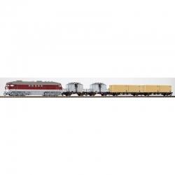 TT set s motorovou lokomotivou BR 130 + 4 nákladní vozy DR ep.IV