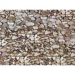 H0 papírová dekorační deska s plastickým motivem -přírodní kámen-Monzonit-