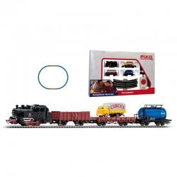 H0 startovací set s parní lokomotivou + nákladní vozy