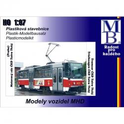 H0 stavebnice tramvaje ČKD Tatra T6A5 -DP Praha-