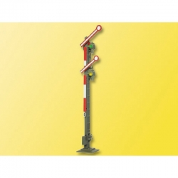 H0 dvouramenný semafor -příhradový kovový stožár-