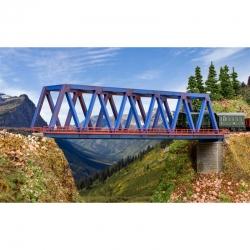 N příhradový ocelový most jednokolejný