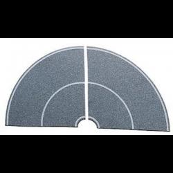 H0 zatáčka -beton- 90°  4ks