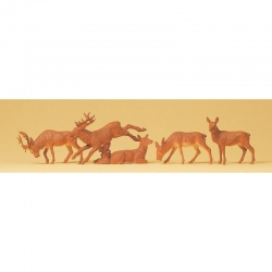 H0 jeleni a laně 5 figurek