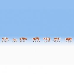 Z kráva hnědo-bílé 7 figurek