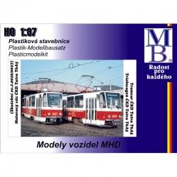 H0 tramvaje ČKD Tatra T6A5 ep.V stavebnice