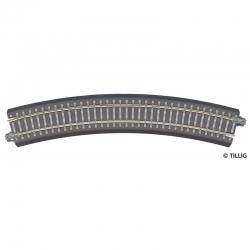 TT oblouková kolej s podložím R21 R353 mm 30°