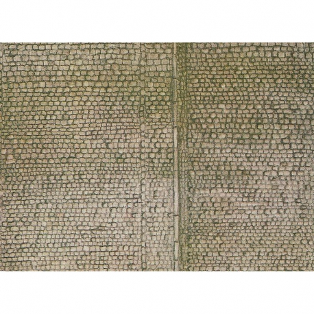 H0 -  papírová dekorační deska s plastickým motivem -chodník-
