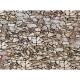 H0 - papírová dekorační deska s plastickým motivem -přírodní kámen-Monzonit-