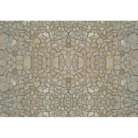 H0 - papírová dekorační deska s plastickým motivem -přírodní kámen-