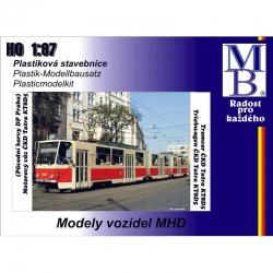 """H0 stavebnice článkové tramvaje ČKD Tatra KT8D5 """"DP Praha"""", Ep.V"""