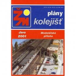 ŽM jaro 2001 plánky kolejišť