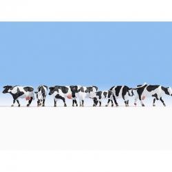 H0 krávy černo-bílé 7 figurek