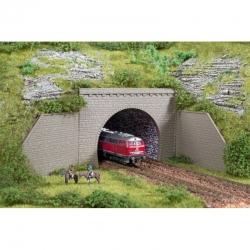 N dvojkolejný tunelový portal 2ks