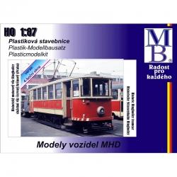 H0 tramvaje Ringhoffer S-provoz  9 bočních oken ep.IV stavebnice
