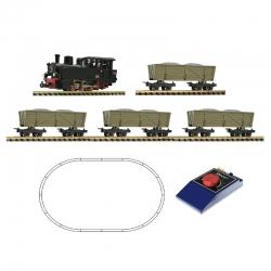 H0e set parní lokomativy a čtyř vozů ep.II-IV