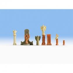 H0 náhrobky a sochy