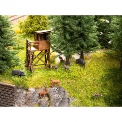 N lesní zvěř + posed 9 figurek