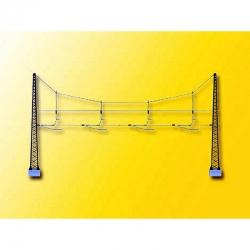 N - vrchní vedení -trolejová brána přes čtyři koleje