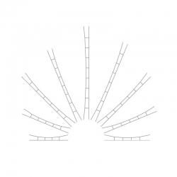 TT vrchní vedení -universální trolej 124-138mm- 5kusů