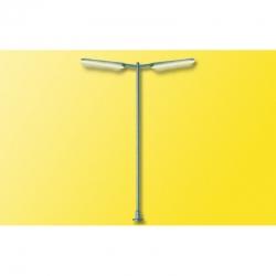 H0 lampa LED -pouliční- dvouramenná 87mm