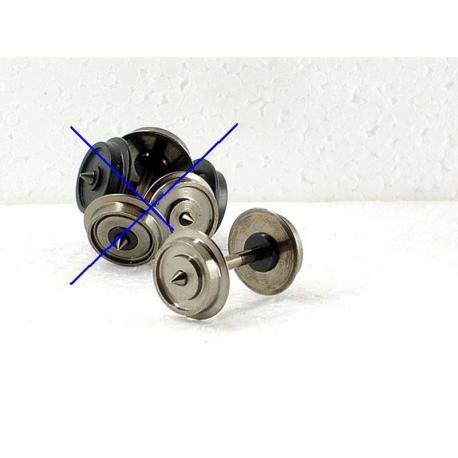 H0 dvojkolí ø11,4mm jednostranně isolované