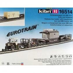 H0 stavebnice vagonu - hlubinový s dvoucestným kolejovým tahačem