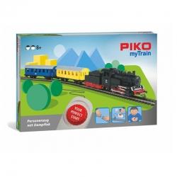 H0 sada myTrain s parní lokomotivou s tendrem a osobnim vlakem