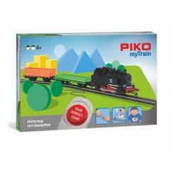 H0 sada myTrain s parní lokomotivou a nákladním vlakem