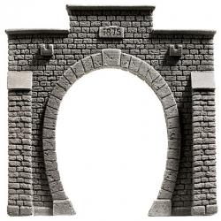 N tunelový portál jednokolejný -kamená zeď-