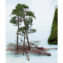 H0/TT sada k tvorbě borovic  10 stromů 10-16cm