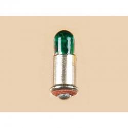 Bajonetová žárovička - zelená 16V
