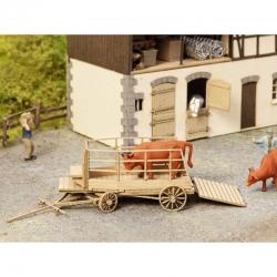 H0 Laser Cut -povoz na přepravu hospodářských zvířa- bez figurky