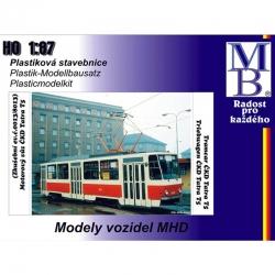H0 tramvaj ČKD Tatra T5 stavebnice