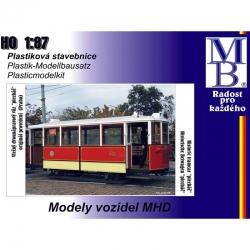 H0 vlečný tramvajový vůz -plecháč- stavebnice