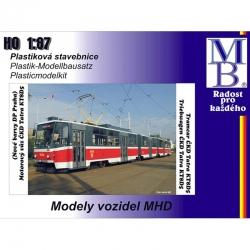 H0  tramvaj  ČKD KT8D5 -stavebnice-