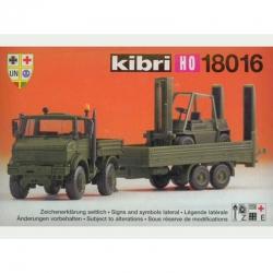 H0 MB Unimog -s přívěsem a vysokozdvižným vozíkem Bundeswehru-