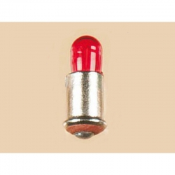 Bajonetová žárovička - červená 16V