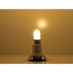 Podstavec s LED žárovkou -teple bílá-