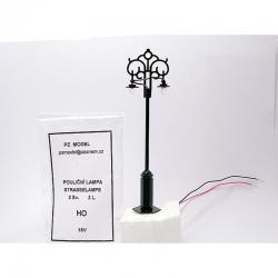 H0 pouliční lampa 2světelná