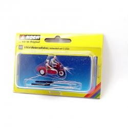H0 motocykl se 3MikroLED + 2 figurky