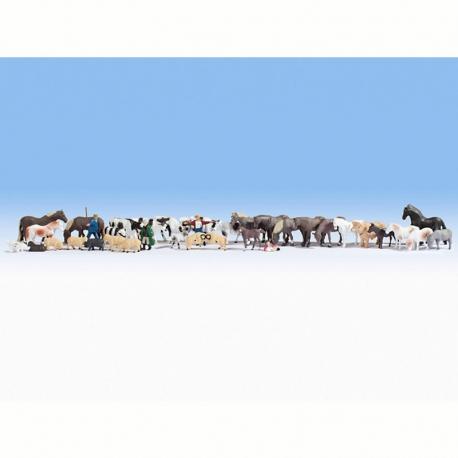 H0 zvířecí farma 36 figurek