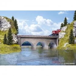 N kamenný obloukový viadukt jednokolejný