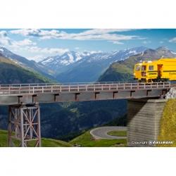 H0 most -ocelový trámový-