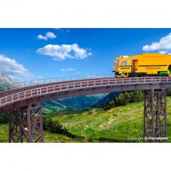 H0 ocelový trámový most obloukový, jednokolejný