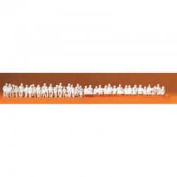 H0 sedící cestující -nebarvené figurky- 36 kusů