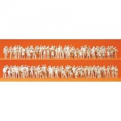 H0 nebarvené figurky -cestující a diváci- 130 figurek
