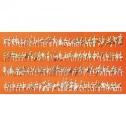 H0 nebarvené sedící figurky 120 figurek